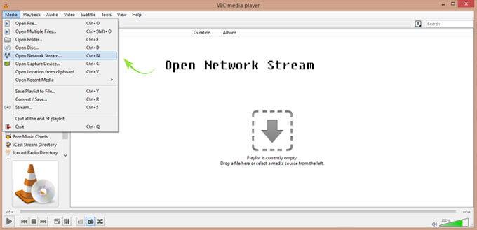 vlc-open-network
