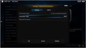 kodi-rytec-epg-downloader-settings