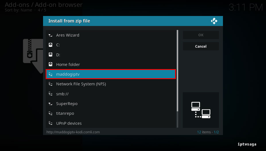 kodi-select-source-freedom-iptv-add-on