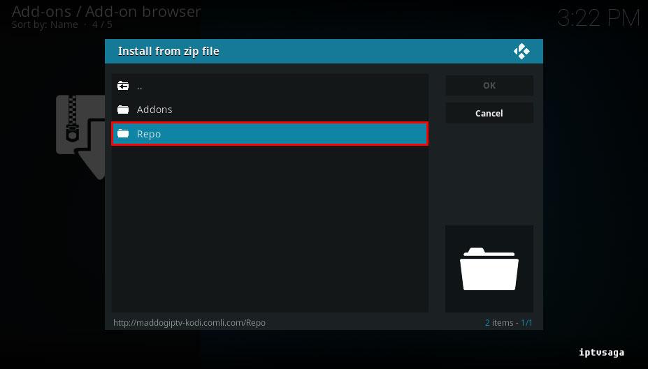 kodi-select-repo-folder-freedom-iptv-add-on