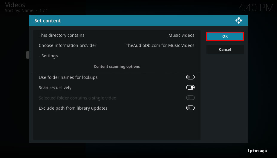 how to add videos to kodi