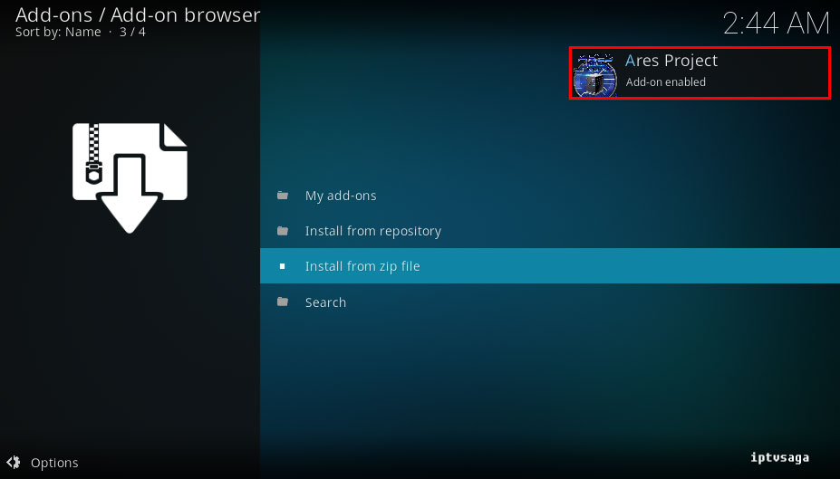 kodi-repository-aresproject-installed