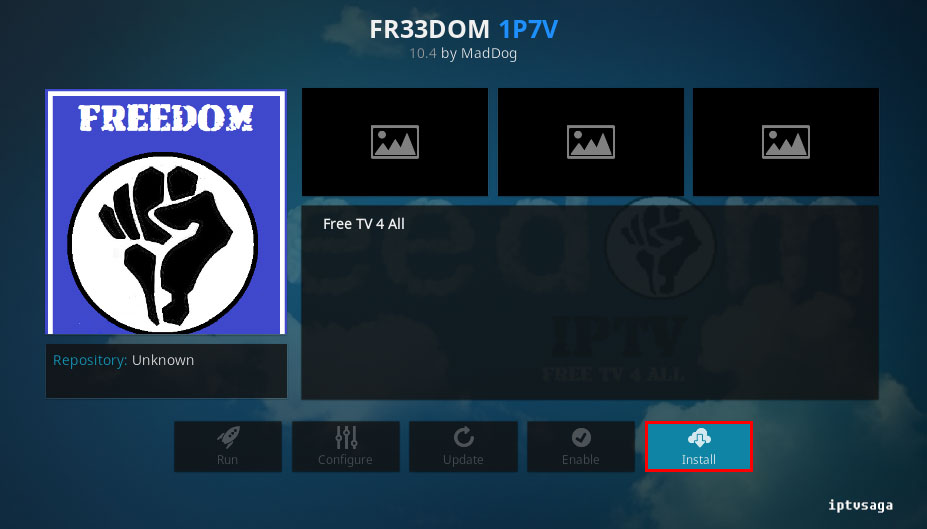 install-freedom-iptv-add-on