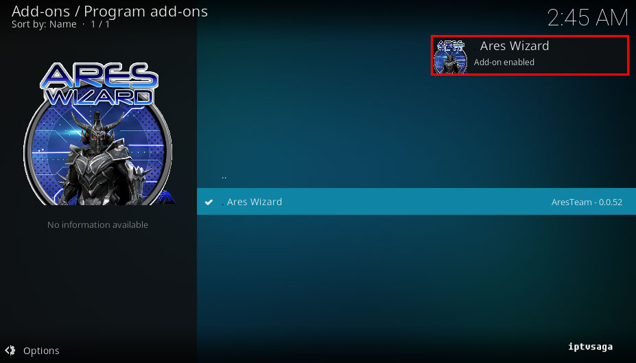 kodi-ares-project-ares-wizard-installed