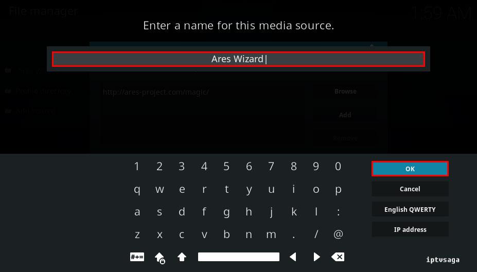 kodi-enter-file-name-ares-wizard