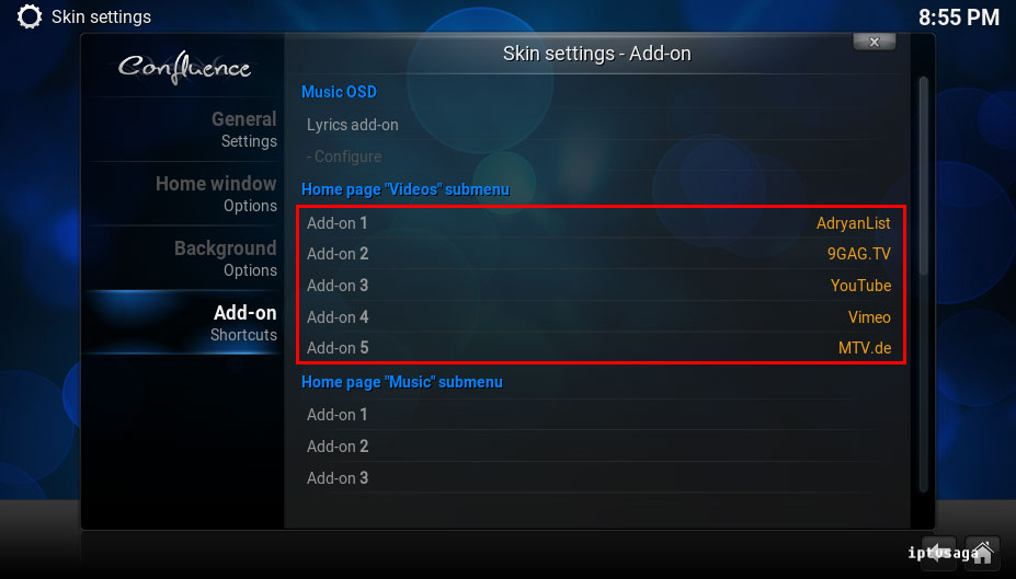 kodi-addon-shortcuts-added
