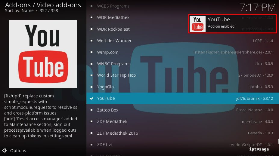 how to install kodi on android youtube add ons