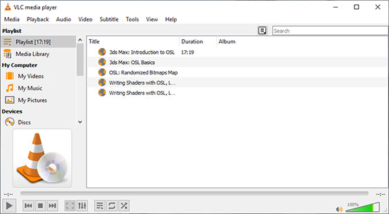 Play YouTube Playlists in VLC Player